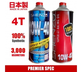 Shenzo Motorcycle 4T 10W40 Premier Spec Fully Synthetic Racing Oil (1L)