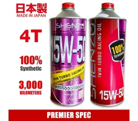 Shenzo Motorcycle 4T 15W50 Premier Spec Fully Synthetic Racing Oil (1L)