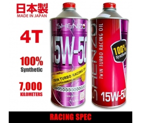 Shenzo Motorcycle 4T 15W50 Racing Spec Fully Synthetic Racing Oil (1L)
